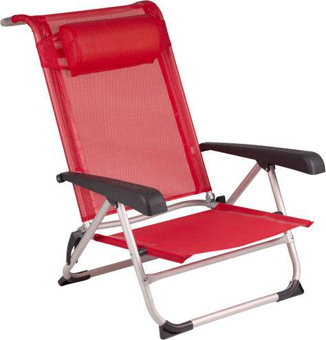 RM Beach Chair aluminium Delux rood | Veneboer Camping & Outdoor